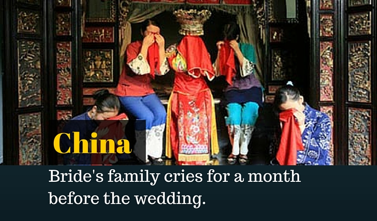 10 Wedding Traditions From Around The World One: 10 Extremely Weird Marriage Traditions Around The World