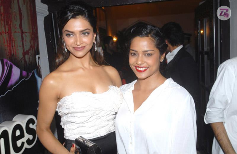 Bollywood actress Deepika Padukone and her close friend Shahana Goswami